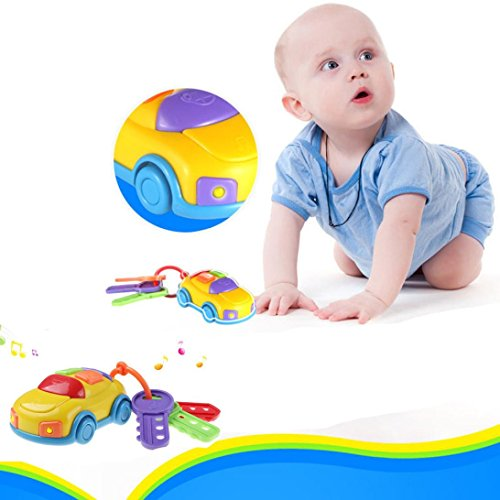 Teaching Säuglinge und Kinder Puzzle Spielzeug., mamum Vintage Baby Kleinkinder lernen Spaß Spielzeug cikoo Musik Car Wash Schlüssel Bildungs-Spielzeug ()