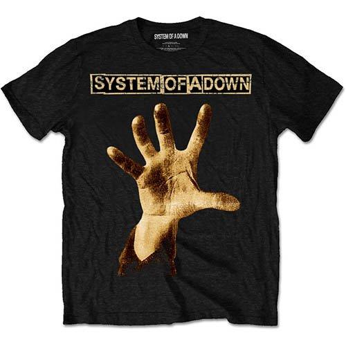 Rockoff Trade Herren T-Shirt Hand Schwarz