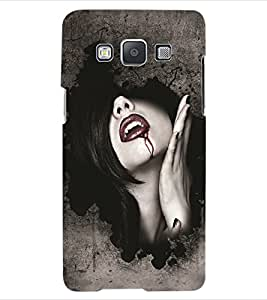 ColourCraft Dracula Girl Design Back Case Cover for SAMSUNG GALAXY E5