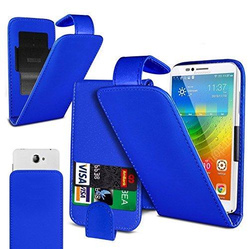 Preisvergleich Produktbild N4U Online - Clip On Kunstelder Klapptasche Cover Beutel Für Doogee T6 - Verschiedene Farben - Blau