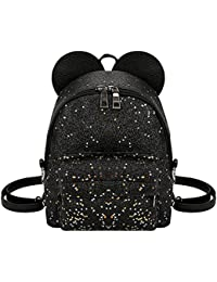 Zibuyu Shining Sequins Women Cute Mini Backpacks Girls Princess Shoulder Schoolbag