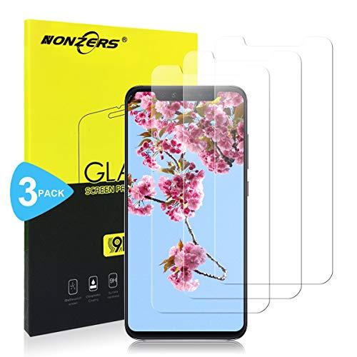 NONZERS 3-Pack Cristal Templado para Xiaomi Mi 8 / Mi 8 Pro Vidrio Templado [2.5D Redondo Borde] [0.3mm Ultrafino] [Anti-rasguños] Fácil Instalación y Sin Burbuja Protector Pantalla