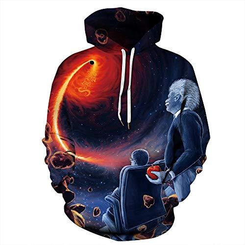 Herren Outdoor Hoodies 3D Animal Print Pullover Lange Ärmel Pullover grafisches Sweatshirt