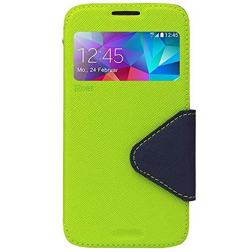 Roar Galaxy J5 2017 Flip Case Tasche, Flipcase Schutzhülle, Bookcase Handytasche, Premium Handy-Etui mit Fenster für Samsung Galaxy J5 2017, Grün