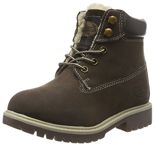 Dockers by Gerli Unisex-Kinder 35FN799-400320 Combat Boots, Braun (Cafe 320), 31 EU (Kinder Schuhe Stiefel)
