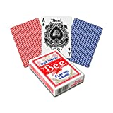 Fournier Index, Bee Indice Standard, Colori Assortiti (Rosso/Blu) - Qualsiasi Mazzo Fornito Unisex-Adulto, Poker