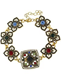Young & Forever Paradiso Collection Gold Plated Forearm Designer Strand Bracelet For Girls/Women By CrazeeMania...