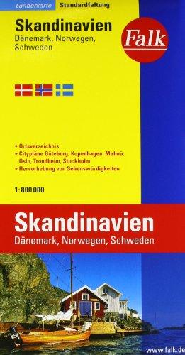 Falk Länderkarte Skandinavien / Dänemark / Norwegen / Schweden 1:800 000: Alle Infos bei Amazon