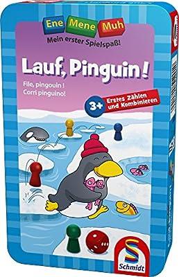 Schmidt Spiele Jeu de Voyage en Mene Muh-Cours Le Pingouin, 51291