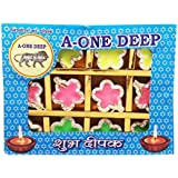 Grasme® Set Of 12 Made In India Handmade A-one Diyas Wax Filled Candles For Diwali Pooja (Pack Of 12, 24 X 18 X 2 Cm) (StarShape)