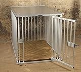 Callieway® Premium ALU Hundekäfig für Büro und Daheim, Hundebox, ALU Transportkäfig Dogcrate Pro (Verschiedene Größen) (XXLarge: 109cm (L) x 74cm (B-Türseite) x 77cm (H))