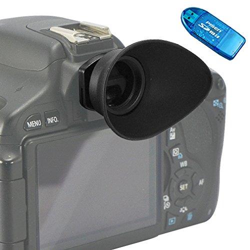 First2savvv DSLR Conchiglia Oculare Mirino Ottico per per Canon EOS 1300D 100D 1200D 1100D 1000D 550D 500D 450D DSLR Camera + lettore di schede SD - QJQ-TX-P-EF-BP01G10