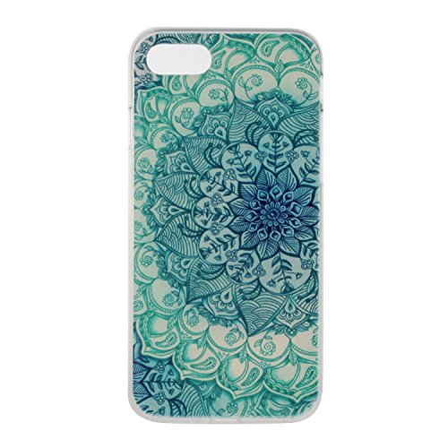 Ukayfe Custodia per iPhone 7/8,UltraSlim TPU Gel Gomma Silicone Copertura Case per iPhone 7/8,Crystal Clear Skin Custodia Stilosa custodia di design Protettiva Shell Case Cover antigraffio Cover poste Fiore Jade
