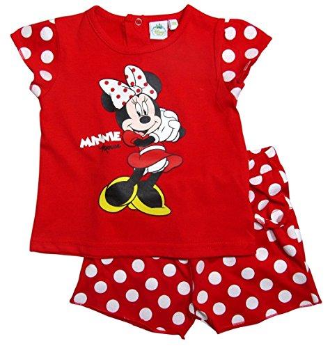 ion 2017 T-Shirt und Hose 68 74 80 86 92 Shirt Mädchen Neu Top Maus Kurze Hose Set Rot (74 - 80, Rot) (Hello Kitty Baby-artikel)