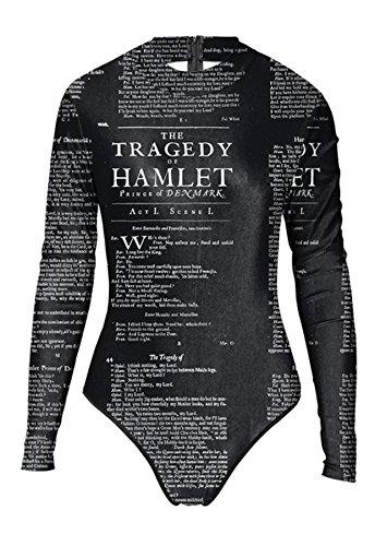 Thenice Damen Badeanzug Mehrfarbig schwarz onesize letter