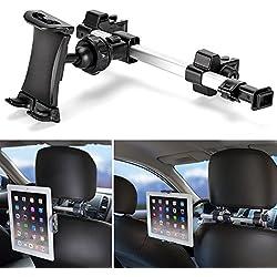iKross Soporte de tablet para coche - Reposacabezas/Barra