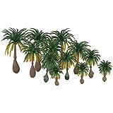 Generic 12pcs Layout Model Train Coconut Palm Trees Rain Forest Scale 1: 100-1: 250