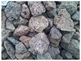 Der Naturstein Garten 12,5 kg Lava Steine 40-150 mm - Gasgrill Elektrogrill Lavastein Lavasteine Kies Kiesel Aquarium - LIEFERUNG KOSTENLOS