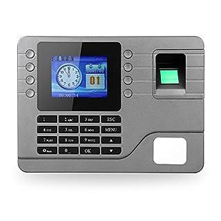 KKmoon Biometric Fingerprint Password Attendance Machine Employee Checking-in Recorder 2.8 inch LCD Screen DC 9V Time Attendance Clock