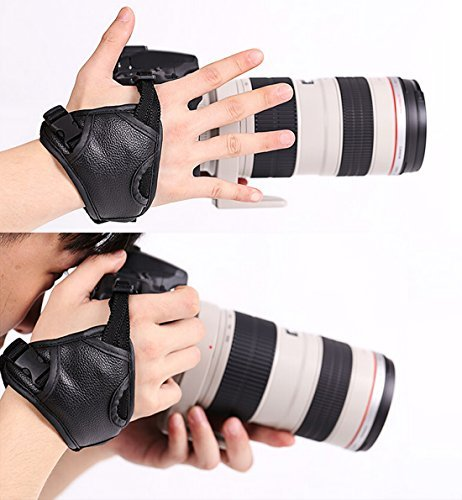WITHLIN Professional rapida ripresa PU fotocamera Grip cinturino da polso Band Strap mano per fotocamera SLR DSLR(Canon Nikon Sony Pentax Olympus,etc) (polso impugnatura)