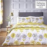Catherine Lansfield Floral Banbury de Cuidado fácil, Amarillo, Set edredón Doble