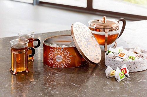 Lipton Geschenkset, Teedose mit ausgewählten Tee-Sorten (12x5 Pyramidenbeutel)