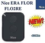 Nice FLO2RE Mando a distancia original para puertas automáticas, 2 botones, 433,92 MHz, rolling code!!!