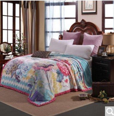 BDUK Die Decke dicke warme Decke Raschel ist warm winter Hochzeit Roter Teppich Doppelzimmer mit Klimaanlage und anti-statisch, d 1.220*240/8 catty