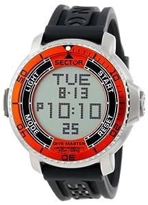 Sector R3251967001 - Reloj digital de cuarzo para hombre con correa de caucho, color negro de Morellato Spa