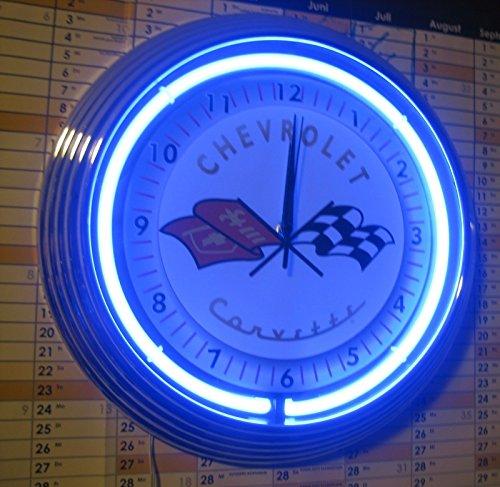 neon-orologio-chevrolet-corvette-c3-garage-sign-orologio-da-parete-usa-50-s-style-neon-colore-blu