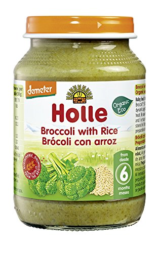 Holle Potito de Brócoli con Arroz Integral (+6 meses) - Paquete de 6 x 190 gr - Total: 1140 gr