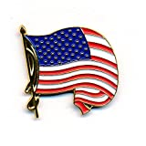 Wehende USA Flagge waving Flag Badge Metall Button Pin Pins Anstecker 228