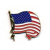 Wehende USA Flagge waving Flag Badge Metall Button Pin Pins Anstecker 228