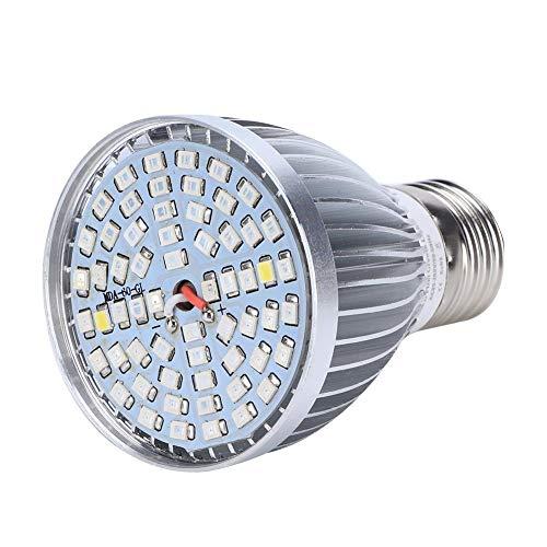 Lampade per Piante Crescita, Luci per Piante 60W Lampada 60 LED Coltivazione Indoor Spettro Completo Lampada per Coltivazion Grow Light per Pianti Interne Frutta Verdure Fiore per Serra