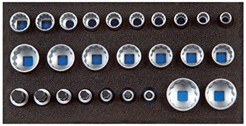 GEDORE 1500 CT1-D 19 Satz Steckschlüsseleinsätze 1/2″, UD-Profil, in Check-Tool-Modul