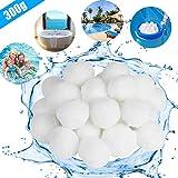KATELUO 300G / 500G Filtro Balls,Sfere per Filtrazione a Sabbia per Piscine, può Essere riutilizzato, Elevata permeabilità all'Acqua,più efficiente (300g, Bianco)