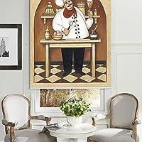 Carcasa postres de pintura al óleo estilo Chef enrollables cm