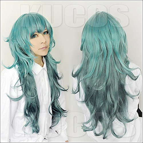 �cke Tokyo Ghoul Green Mix Lange Perücke Cosplay Party Fashion Anime Human Costume Full wigs Synthetic Haar Heat Resistant Fiber (Tokyo Halloween-festival)
