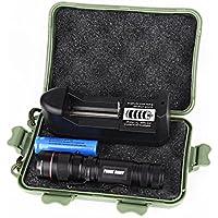 Koly G700 con zoom XML T6 LED linterna táctica + 14500 + cargador de batería +