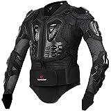 Zyurong - Chaqueta de protección para motocicleta o bicicleta, diseño de armadura biónica, color negro