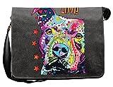Pitbull Hunde Vintage Canvas Tasche für den Hundefreund - Geschenkidee Weihnachten Geschenk Geburtstag Nikolaus Papa