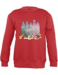 Supportershop Sweat Shirt Rouge Surf Enfant