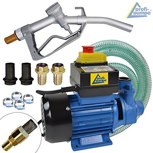 Dieselpumpen Heizölpumpe Biodiesel 230V 12V elektrische Kraftstoffpumpe Ölpumpe Fasspumpe Dieselpumpe Umfülpumpe Selbsansaugend mit Zapfpistolle Automatik, Dieselschlauch Diesel Profi 600-4