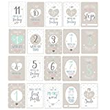 """Luck and Luck Grußkarten/Meilensteinkarten """"Oh Baby"""" für die besonderen Momente im Leben eines Babys, sortierte Karten mit englischen Texten, für Babyparty, 20er-Pack"""