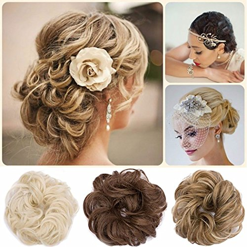 ... Scrunchie Bun Updo Hairpiece Hair Ribbon Ponytail Extensions Hair  Extensions Wavy Curly Messy Hair Bun Donut Hair Chignons Hair Piece Wig  Light brown 264f2f119