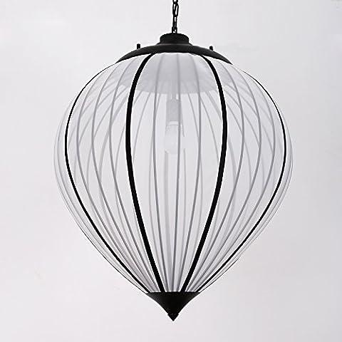 MSUXT lampade a sospensione Bianco minimalista di ferro di garza Testa singola