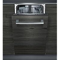 Siemens iQ100 SR615X03CE Totalmente integrado 9cubiertos A+ lavavajilla - Lavavajillas (Totalmente integrado, Slimline (45 cm), Negro, Botones, 1,75 m, 1,65 m)