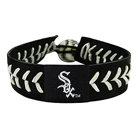 Caseys Distributing 7731400245 Chicago White Sox Baseball Bracelet- Team Color Style