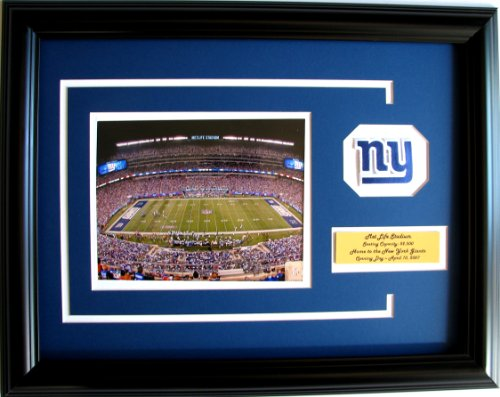 nfl-new-york-giants-metlife-stadium-framed-landscape-photo-with-team-patch-and-nameplate