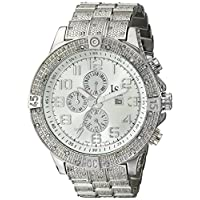 Joshua & Sons Mens Quartz Watch, Analog Display and Stainless Steel Strap JS78SS
